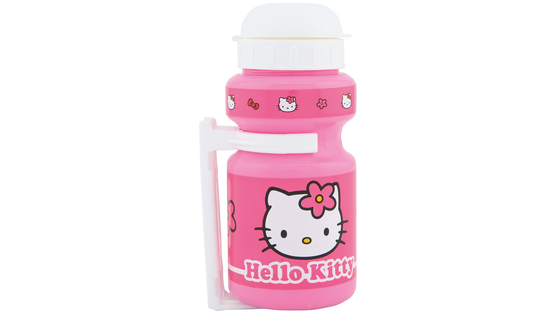 Bike Fashion Water Bottle with Holder Hello Kitty Pink