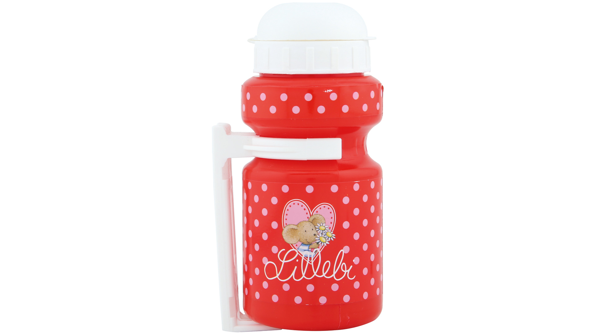 Bike Fashion Water Bottle with Holder Lillebi, Red