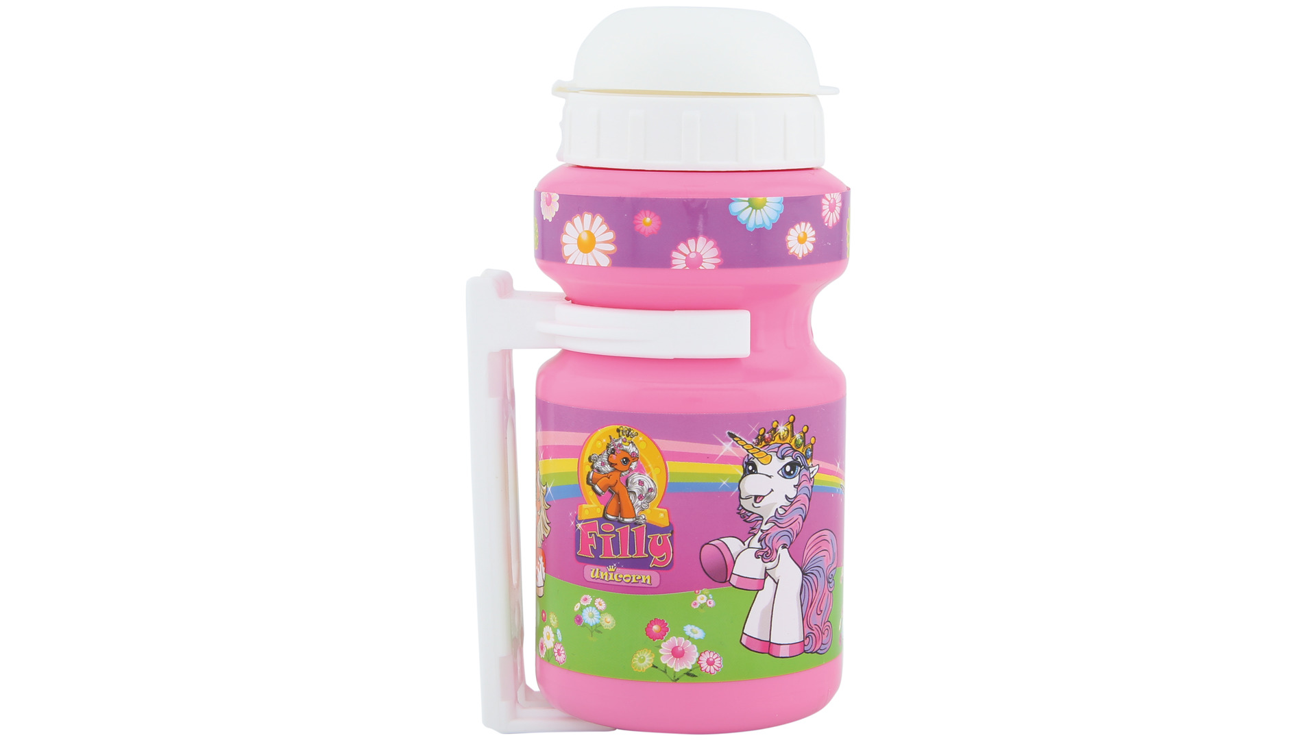 Bike Fashion Water Bottle with Holder Filly Unicorn Pink