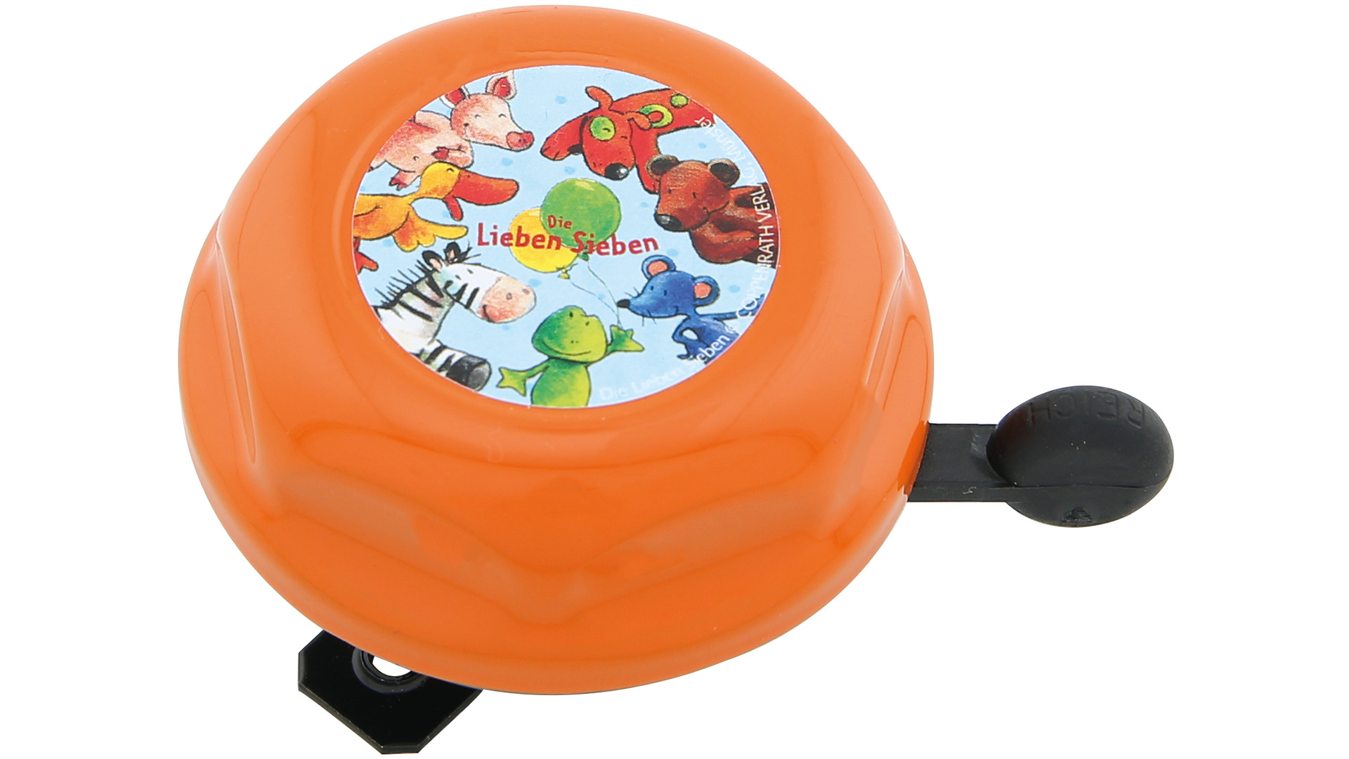 Bike Fashion Childrens Bicycle Bell Lovely Seven Orange