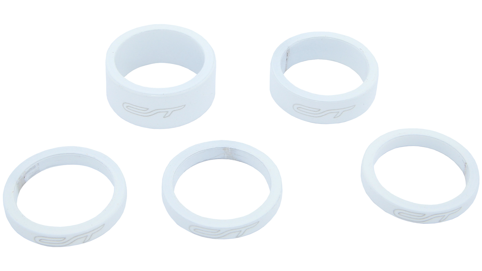 Contec Spacer Set 1 1/8 Inch 3x5/1x10/1x15mm Alu - White