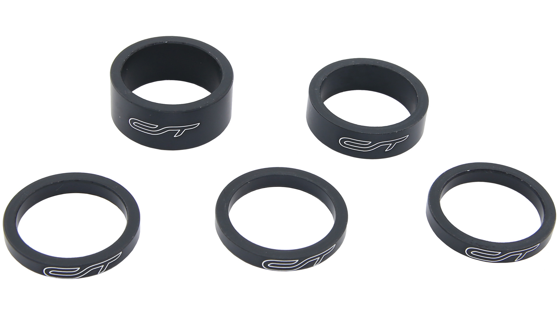 Contec Spacer Set 1 1/8 Inch 3x5/1x10/1x15mm Alu - Black