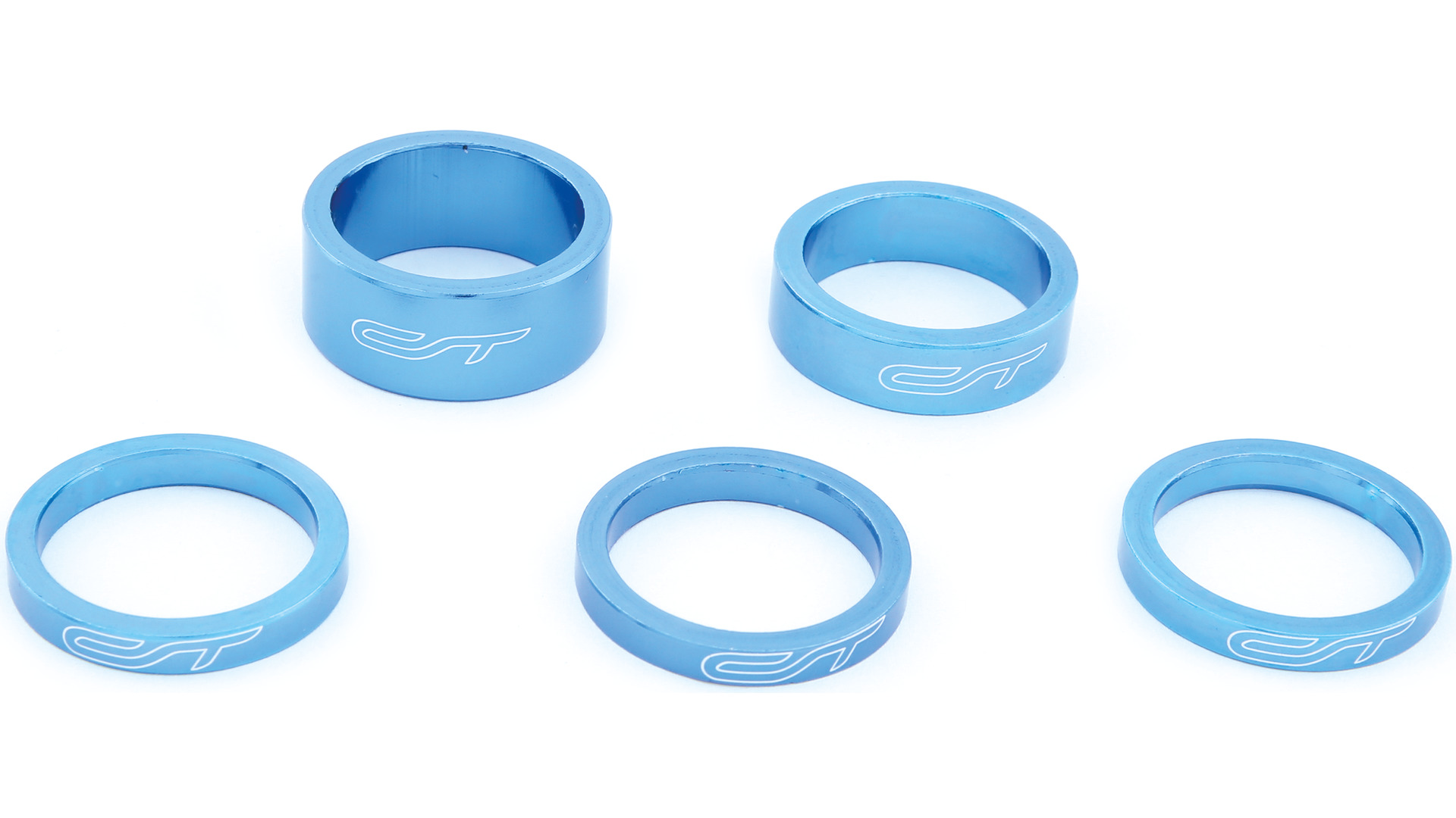 Contec Spacer Set 1 1/8 Inch 3x5/1x10/1x15mm Alu - Blue