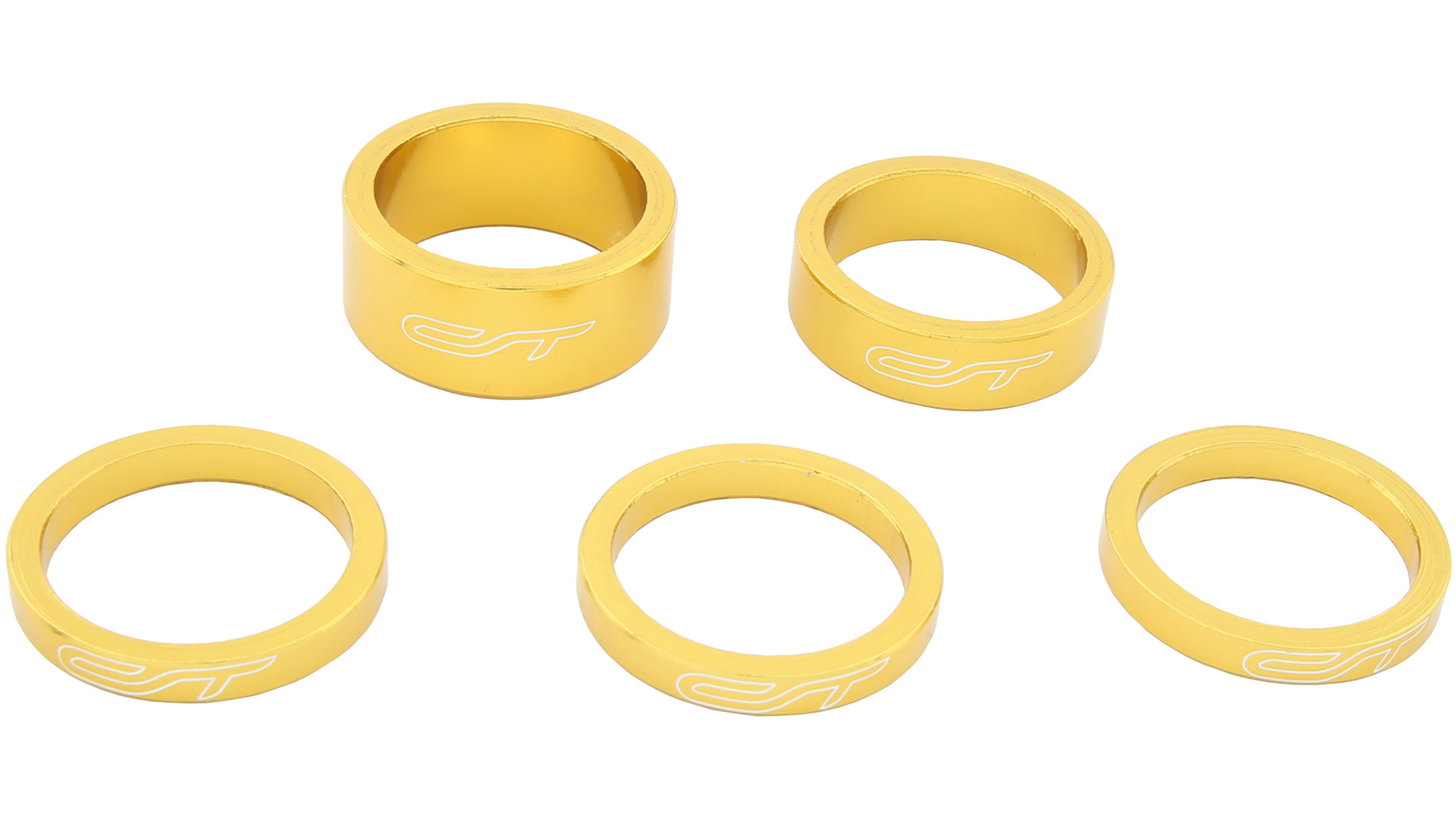 Contec Spacer Set 1 1/8 Inch 3x5/1x10/1x15mm Alu - Gold