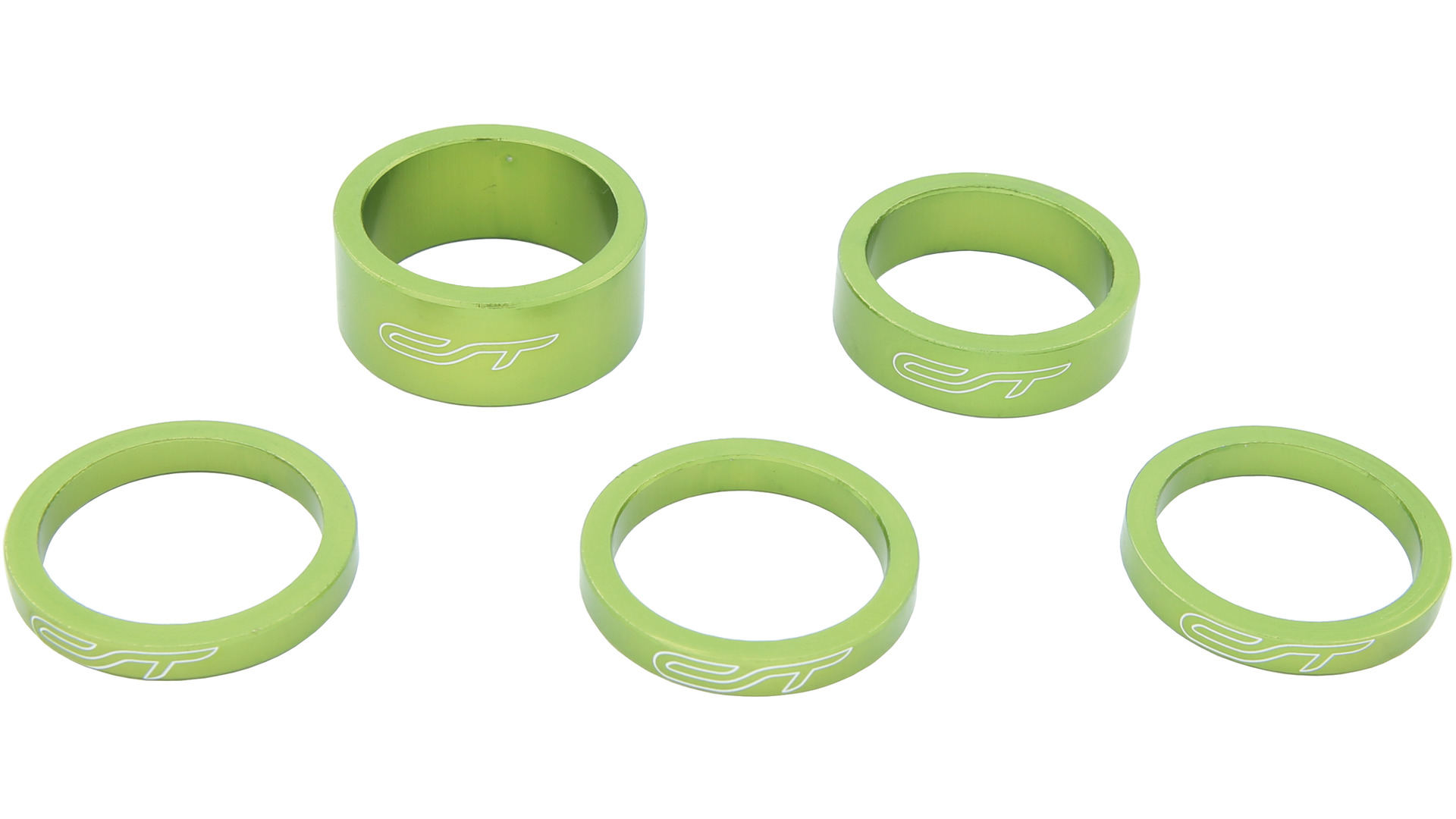 Contec Spacer Set 1 1/8 Inch 3x5/1x10/1x15mm Alu - Green