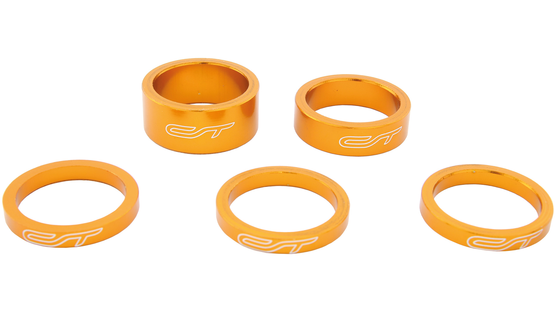 Contec Spacer Set 1 1/8 Inch 3x5/1x10/1x15mm Alu - Orange