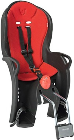 Hamax Bicycle Childseat Sleepy Black with Red Cushion