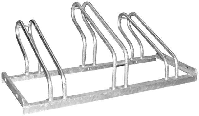 Bicycle Rack 105cm Wide for 3 Bicycles 103x41x34cm