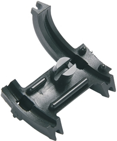 Cable Guide 2-Fold Plug Mounting (Conway) - Black