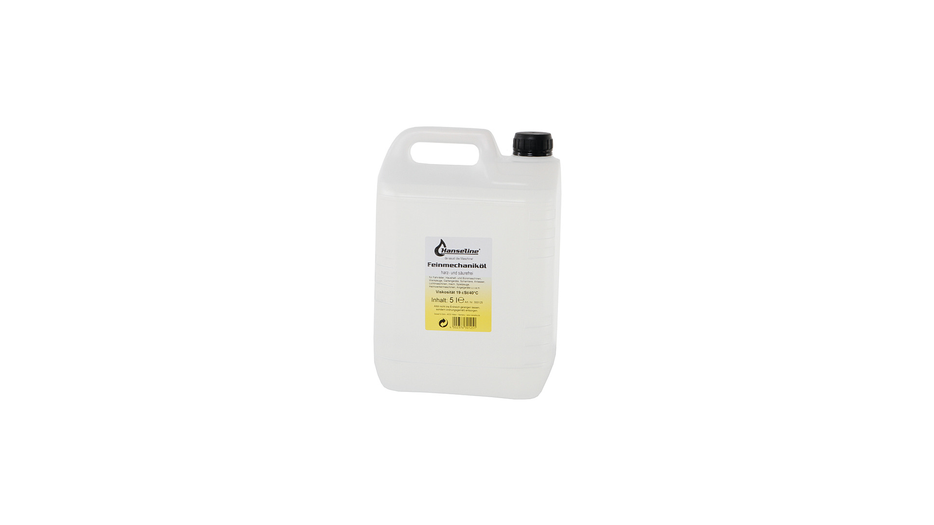 Hanseline Precision Mechanics Oil Bottle 5L