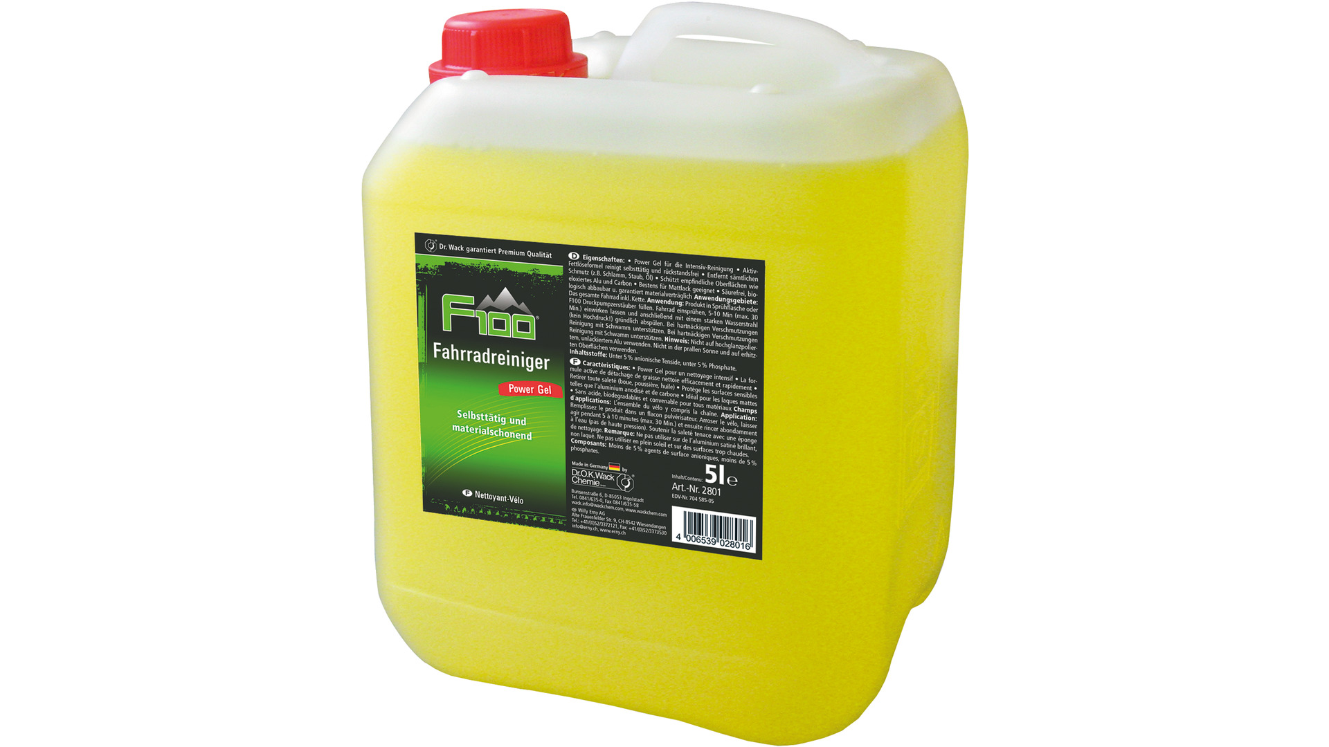 Dr Wack F100 Bicycle Cleanser Jerry Can 5 Liter Power-Gel