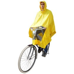 Hooodie Poncho One-Size-Fits-All Yellow