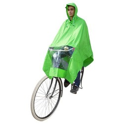 Hooodie Poncho One-Size-Fits-All Green
