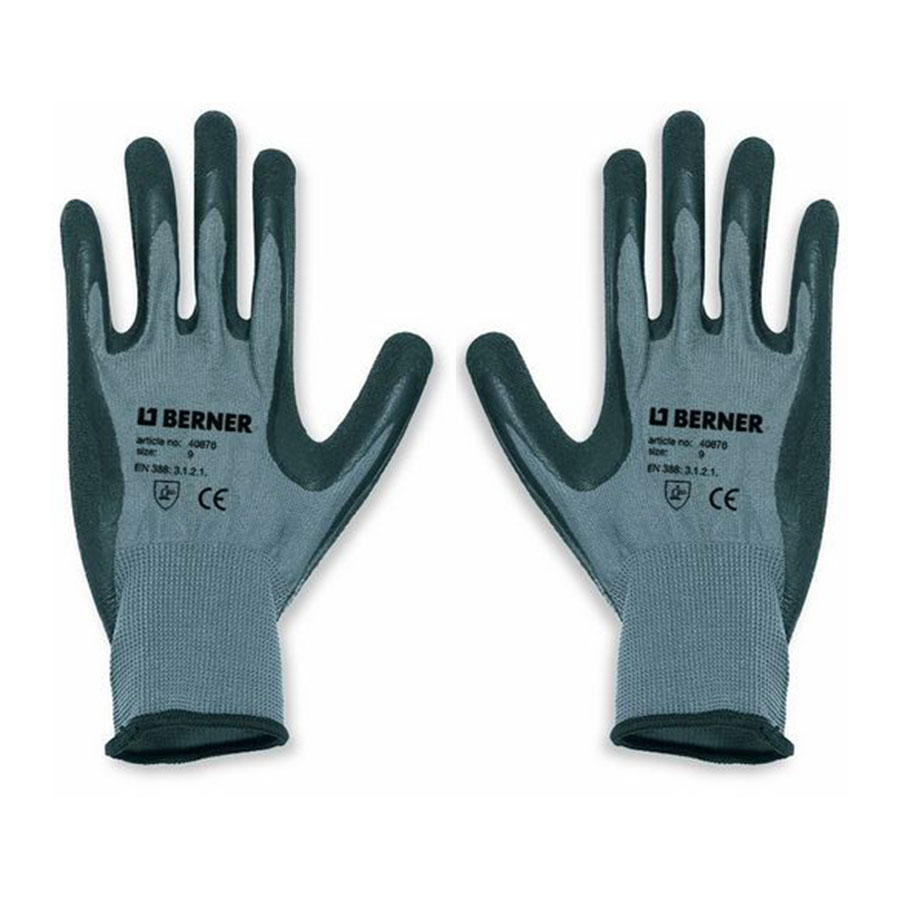 Berner Glove B-Grip Latex - Size 8