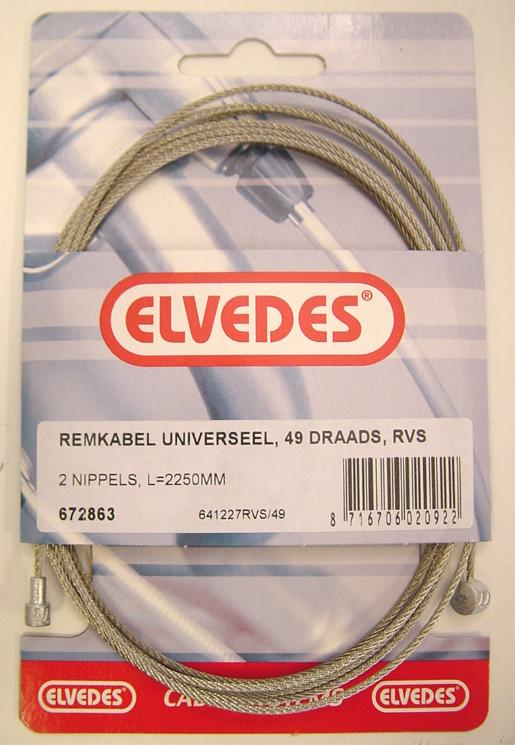 Elvedes Brake Cable 2250 mm Stainless