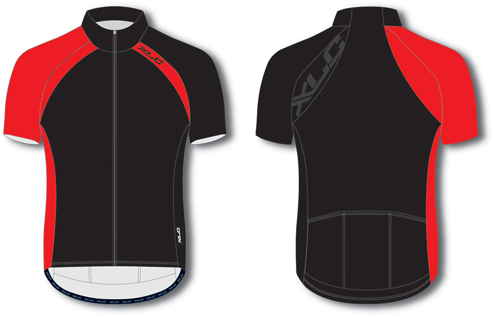 XLC Cycling Jersey SS Sports Black/Red Size L