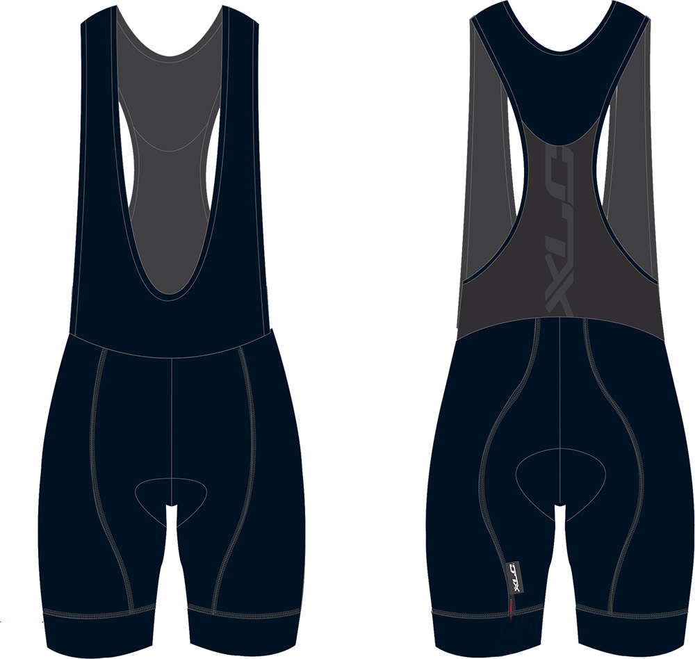 XLC Cycling Pants Pro Mens Short with Suspenders Black - X