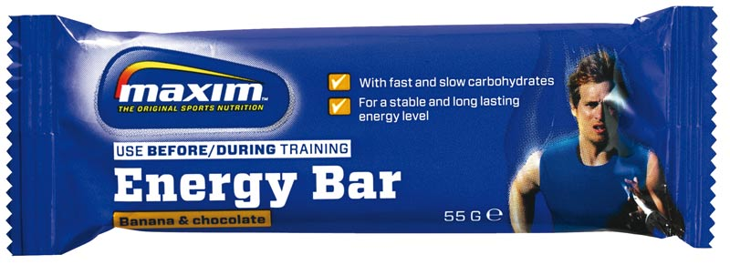 Maxim Energy Bar Chocolate Banana 55 Grams (25)
