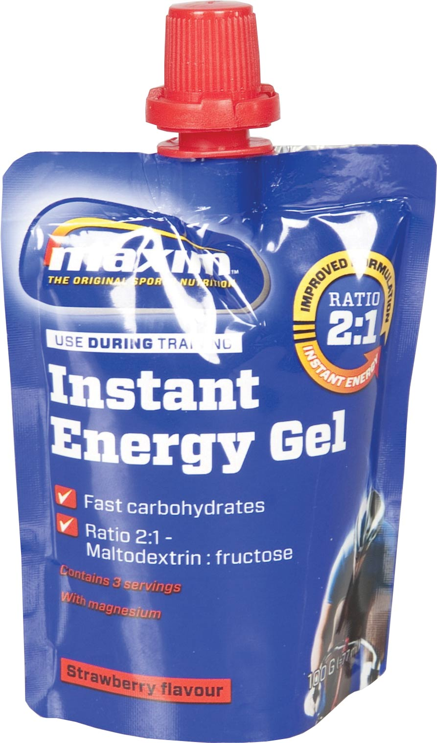Maxim Energy Gel 100gr - Strawberry / Magnesium (24)