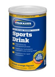 Maxim Sports Drink Powder Fresh Orange - Can 480g