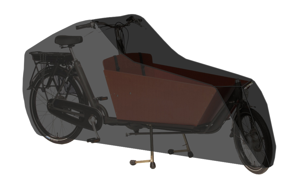 DS Covers Cargo Bicycle Cover 2 Wheels Black