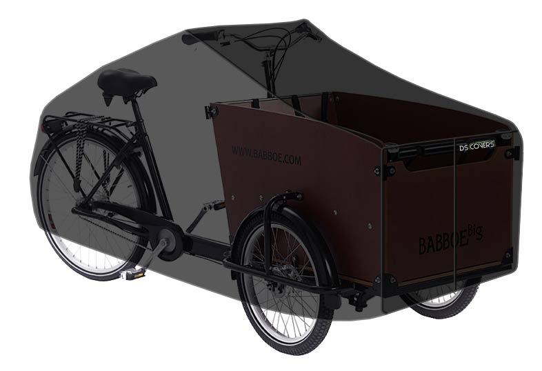 DS Covers Cargo Bicycle Cover 3 Wheels Black