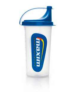 Maxim Shaker Water Bottle White/Blue - 700cc