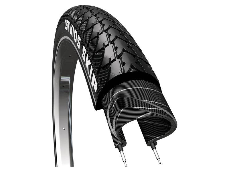 CST Tire 18x1.75 Skip Reflective Black