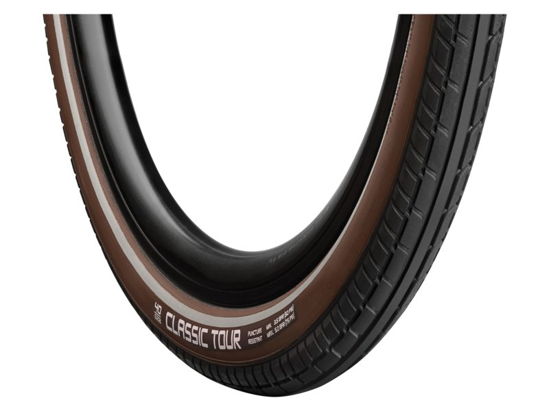 Vredestein Tire Classic Tour 28x1.50 Reflective - Blck/Brown