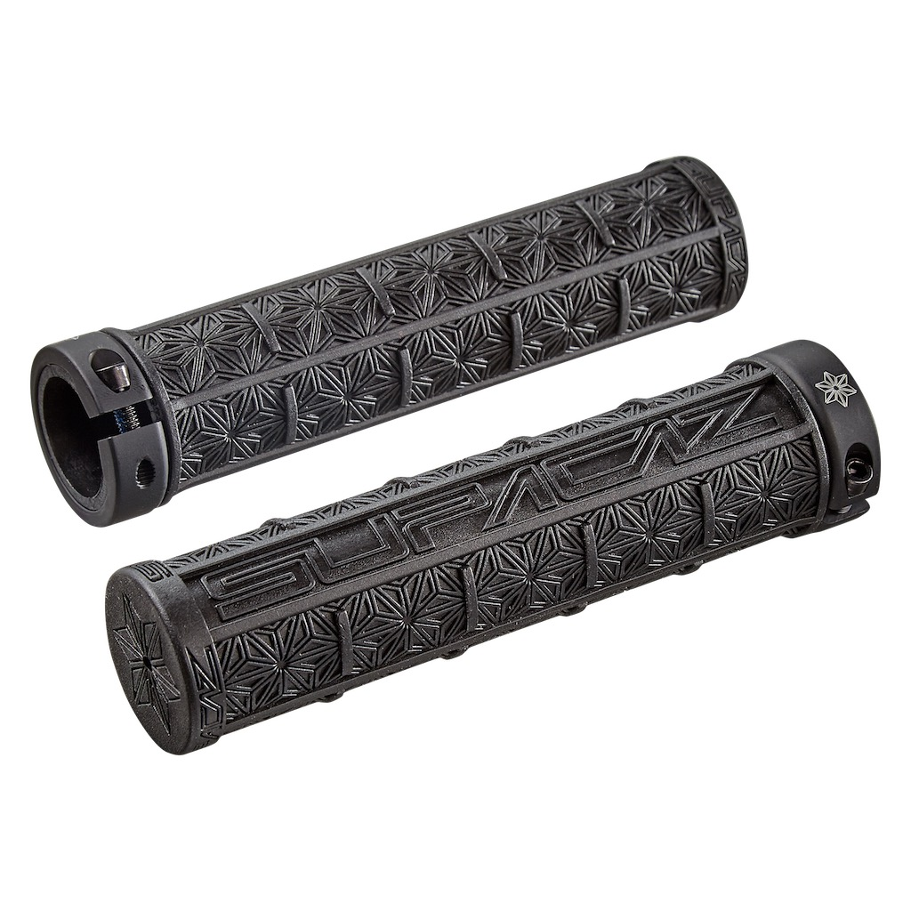 Supacaz Grip Grizips Black With Lock-On
