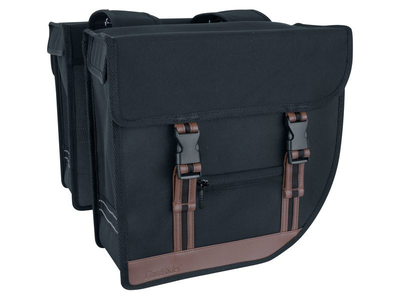 FastRider LED Hybrid 92 Double Pannier 26L Black/Brown