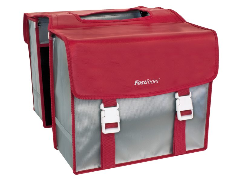 FastRider Double Pannier Multi RED/Silver