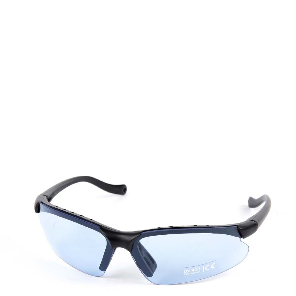 Elite Cycling Glasses + Bag Blue, Smoke and Clear Lenses