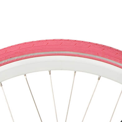 Deli Bicycle Tire 28X 1.75 Reflection Pink