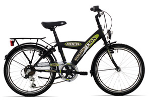 Golden Lion Boys Bike 20 Inch 6S - Matt Black