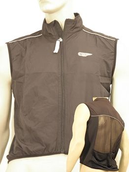 VWP Windbreaker Gilet Bonfanti with Ventilation - Black XL
