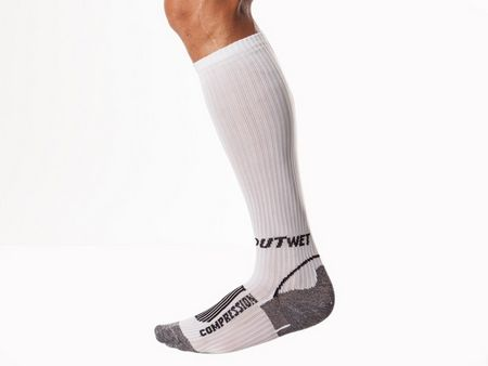 Outwet Compression Socks Long Model - White Size 35-38