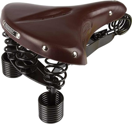 Lepper Primus 215 Bicycle Saddle 280x230mm Leather - Brown