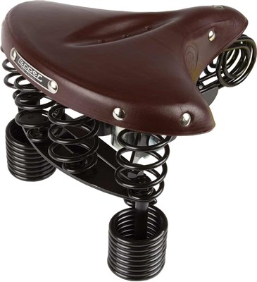 Leper Primus 214 Bicycle Saddle Women 230x230mm - Brown
