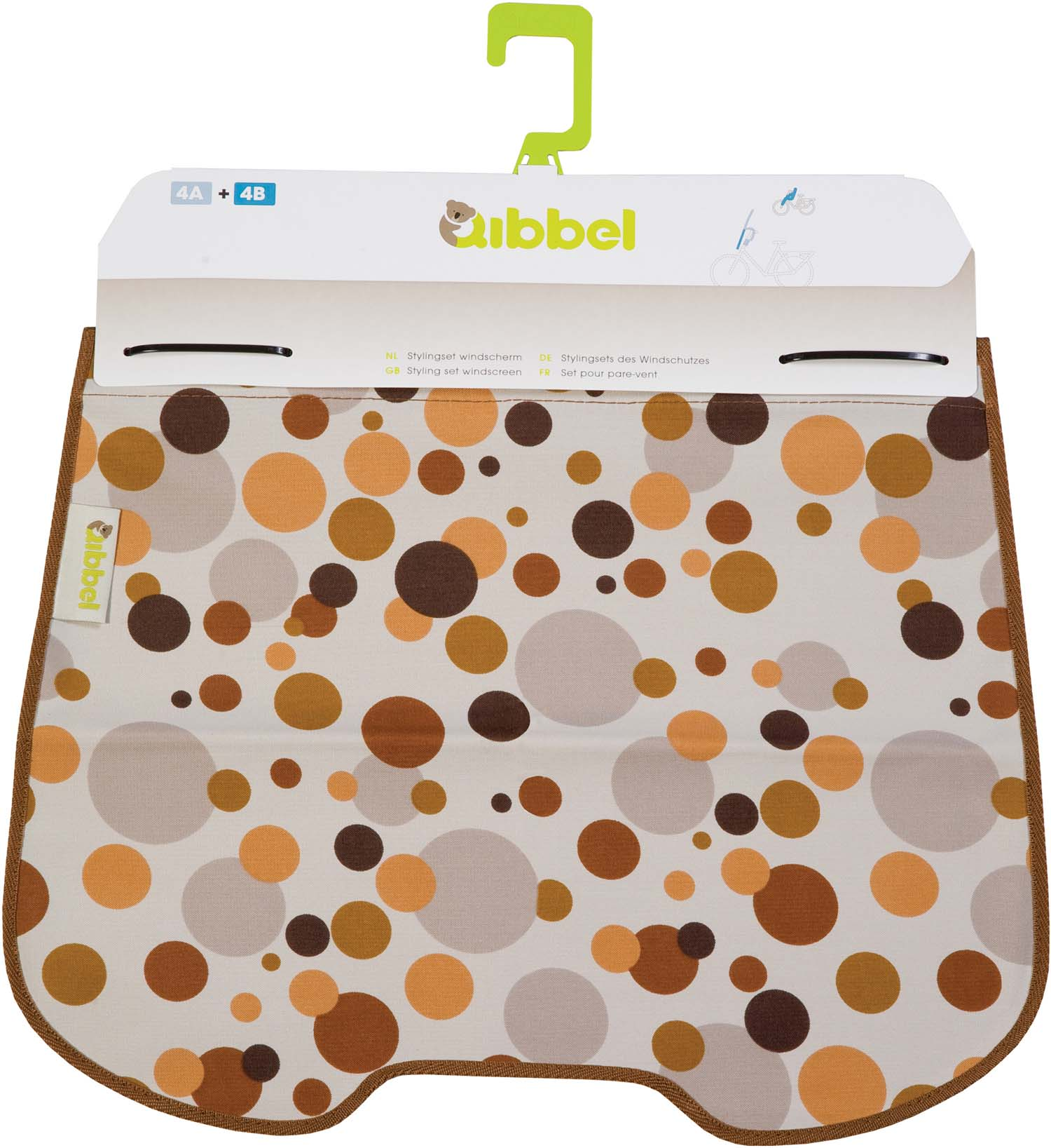 Qibbel Windscreen Flap Dots Brown