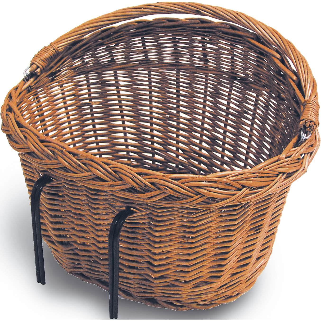 Basil Wicker Bicycle Basket Detroit Oval Belly 15021