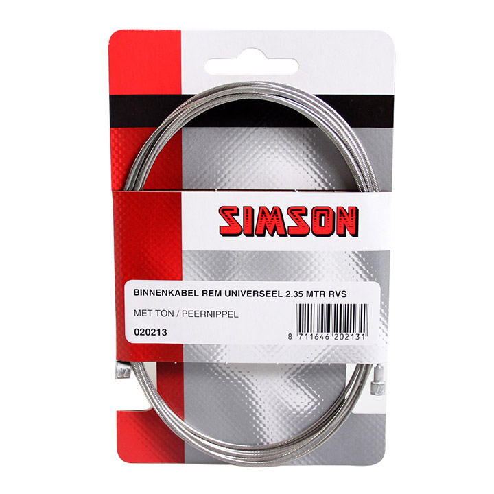 Simson Brake Cable Universal 2,35m Stainless Steel