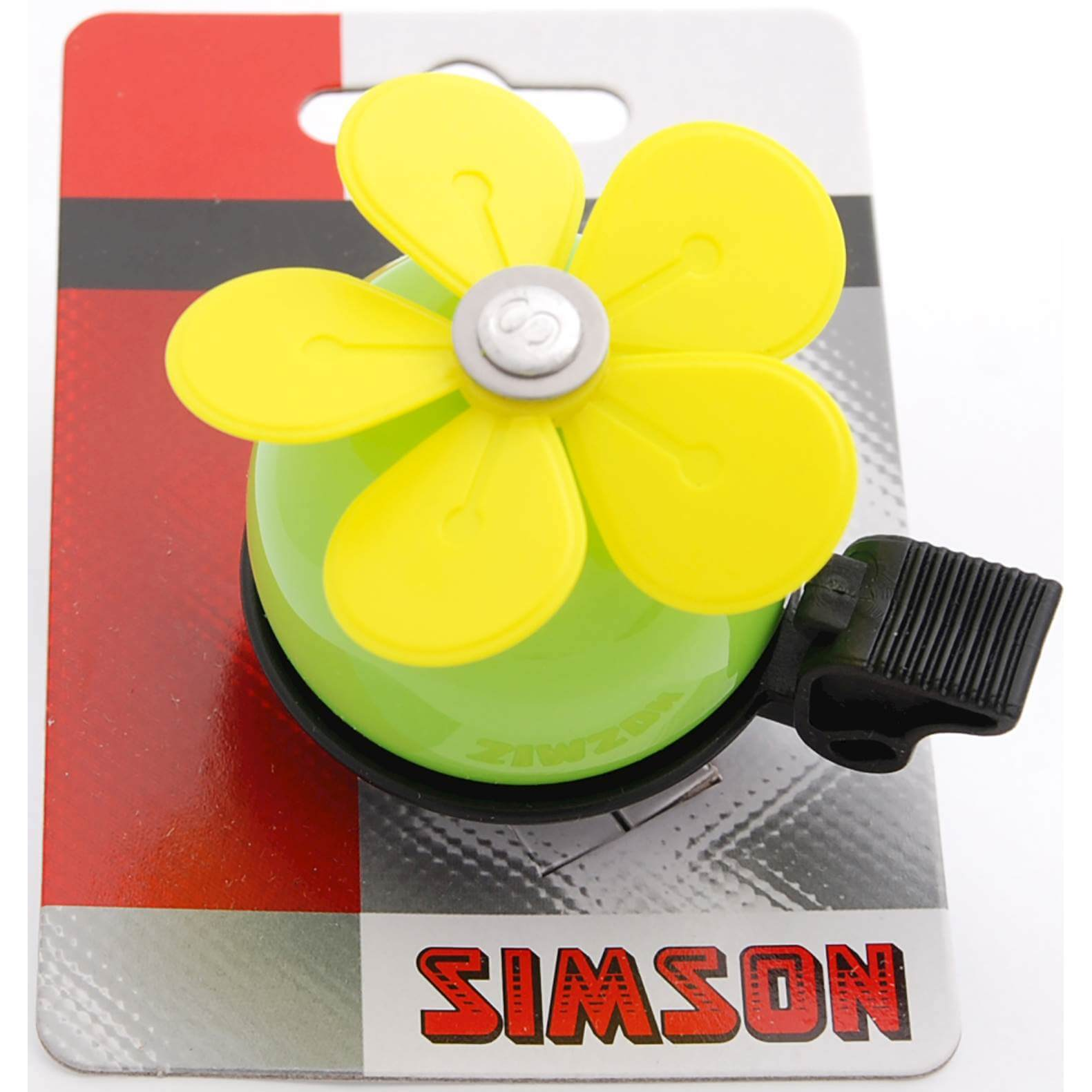 Simson Bicycle Bell Flower - Green/Yellow