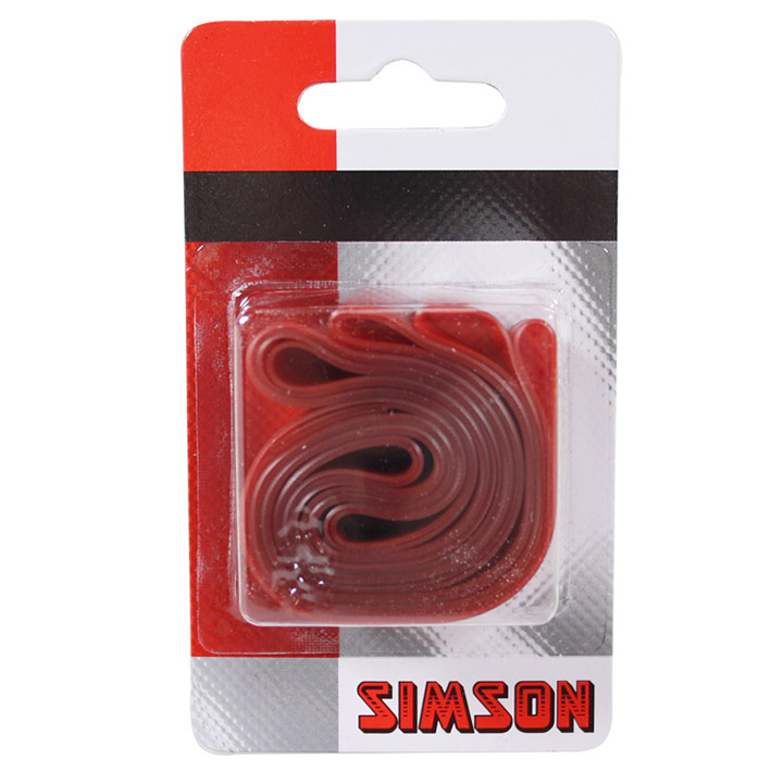 Simson Rim Tape 22mm 26/28 Inch Wide PVC Red