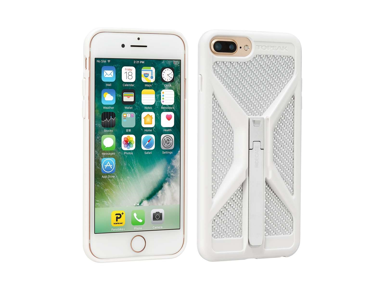 Topeak RideCase Phone Holder iPhone 6+/6S+/7+ - White