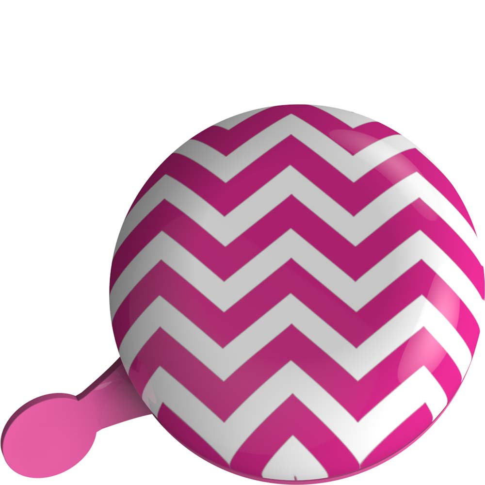 Dutch Perfect Ding Dong Bicycle Bell Ø80mm - Pink Stripes