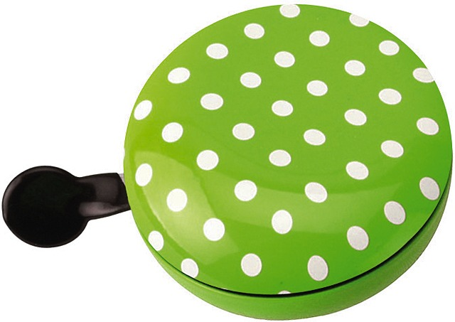 Brave Bicycle Bell Ding Dong Dots Ø80mm Steel - Green