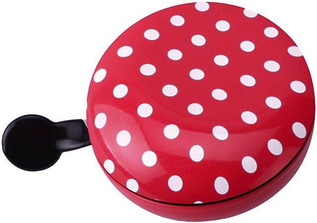 Brave Bicycle Bell Ding Dong Dots Ø80mm Steel - Red
