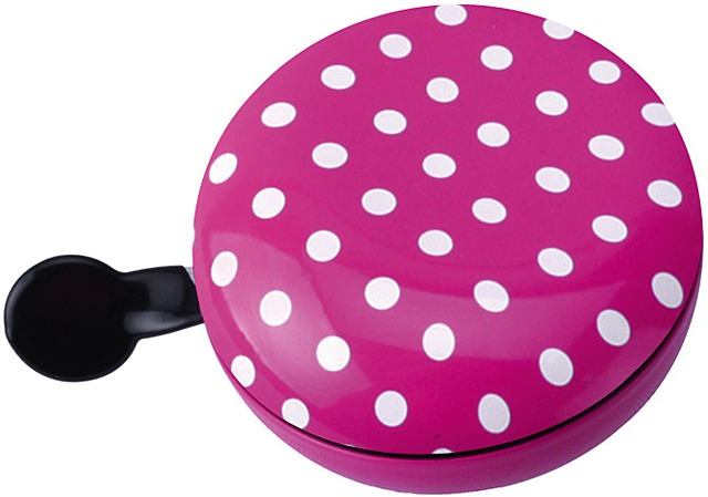 Brave Bicycle Bell Ding Dong Dots Ø80mm Steel - Pink