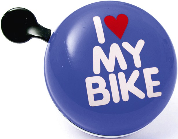 Brave Bicycle Bell I Love My Bike Ø80mm Steel - Blue